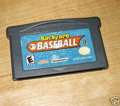 backyard baseball gameboy advance gba nintendo ds en