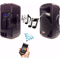 2 Cabinas Equipo De Sonido Profesional Activo Bluetooth Usb