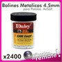 Balines 2400bb Daisy Niquelados 4.5mm Pistola Rifle Airsoft