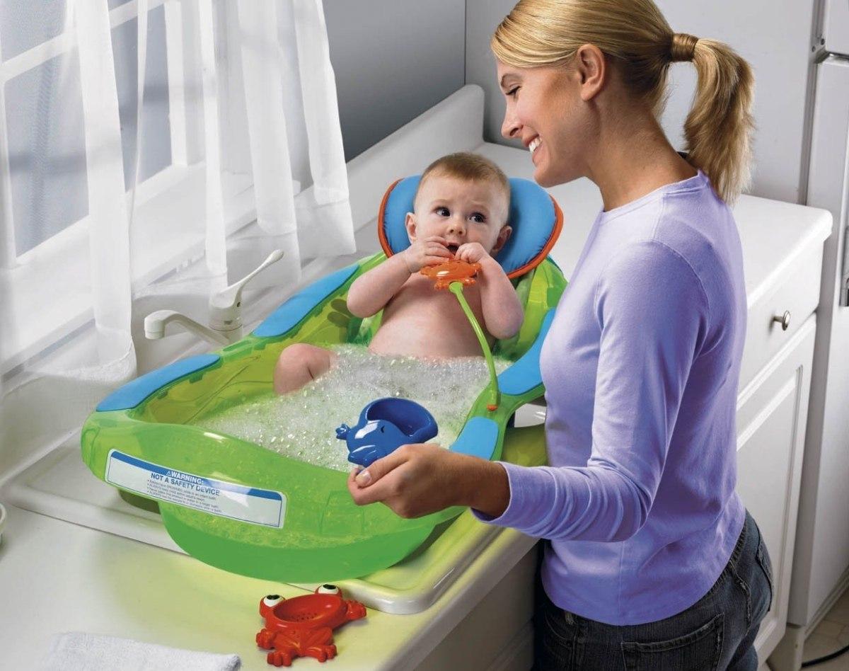 Baño De Tina Para Bebes:Bañera Tina Para Bebé Fisher Price Rainforest Con Hamaca – $ 229900