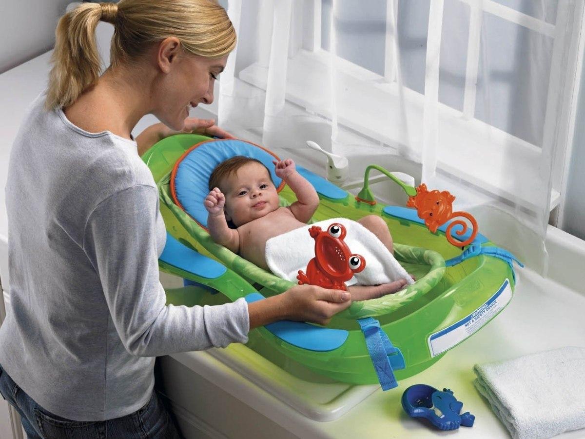 Tinas De Baño De Bebe:bañera tina para bebé fisher price rainforest con hamaca