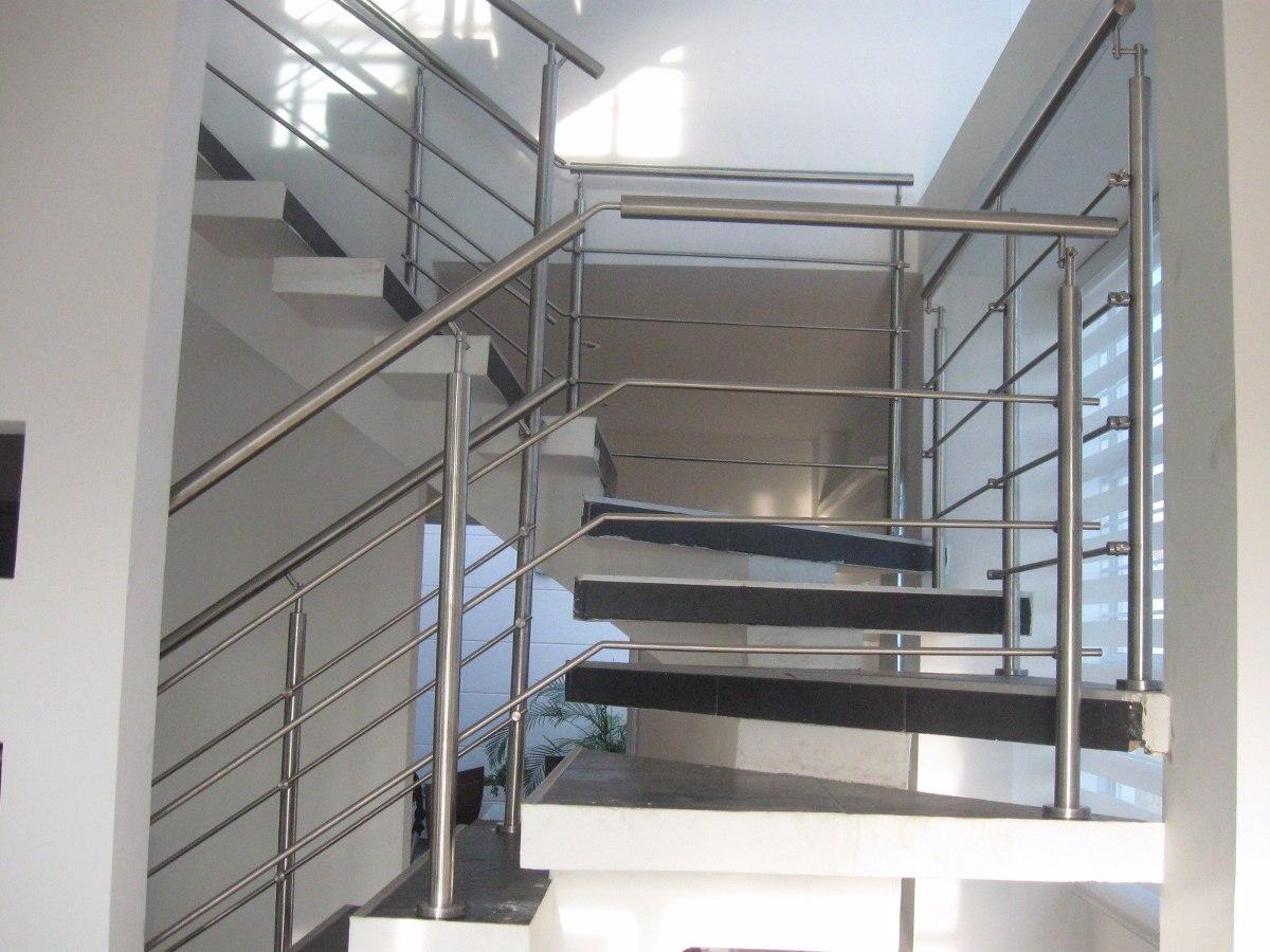 Pin barandas en cristal on pinterest for Escalera exterior de acero galvanizado precio