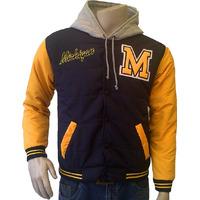 Chaqueta Beisbolera Michigan Capota Tallas S M L Xl Rf. 2000