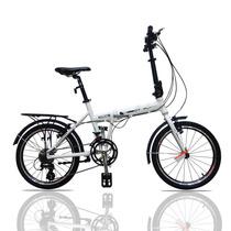 Dtfly Bici Plegable En Aluminio Knight 16 Velocidades Blanca