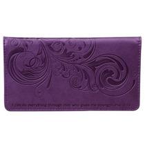 Billetera Philippians : Purple Checkbook Cover Para Mujer