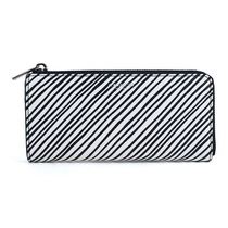 Billetera Coach Bleeker Slim Zip Zebra Print Wallet White M