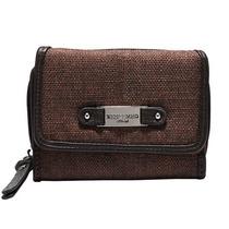 Billetera Brown Linen Look Wallet W/ Redeemed Badge Para Mu