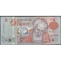 Uruguay 5 Pesos 1998 P80 Serie A