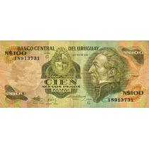 Billete De Uruguay De 100 Nuevos Pesos
