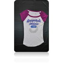 Blusa Aeropostale Dama Talla S/p Pequeña Camiseta Esqueleto