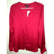 Blusa Forever 21 Roja L Moda Fashion Ultima Unidad Original
