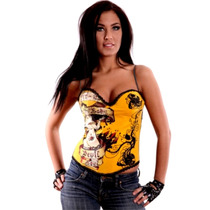 Blusa Corset Bustier Sexy Pin Up Trendy Fashion Tattoo T. M