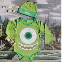 Body Mameluco Mike Wazowzki Bebé Monster Inc + Obsequio