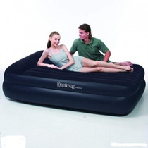 Colchon Tipo Cama Inflable Extra Doble De Lujo