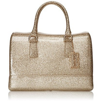 Bolso Mediano Furla Candy Satchel -gris