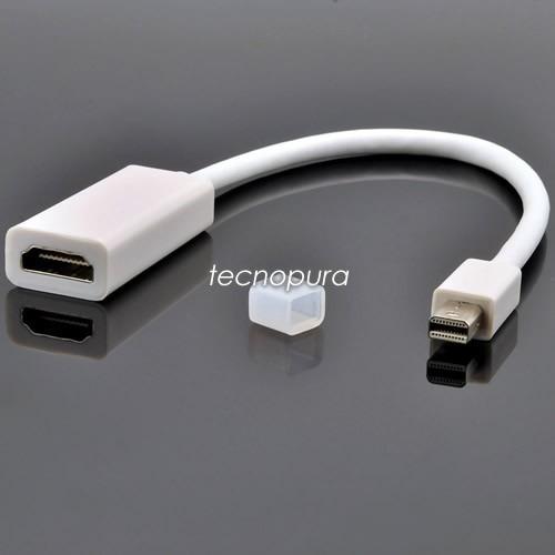 cable adaptador thunderbolt mini displayport a hdmi mac tecnopura. Black Bedroom Furniture Sets. Home Design Ideas