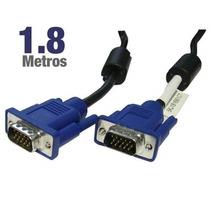 Cable Vga Vga De 1.8 Mt Con Filtro Cable 100% Cobre.
