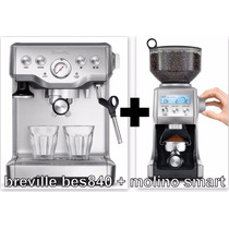 Capuchinera Breville Bes840xl + Molino Maquina Cafe Espresso