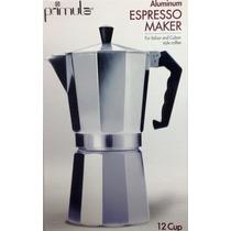 Cafetera Espress Primula En Aluminio 12 Tasas/ Cups Ref 3312