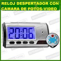 Reloj Con Camara Espia-despertador-sensor Movim-video-fotos