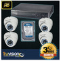 Kit Video Vigilancia Cctv Dvr 4 Canales+disco Duro Truvision