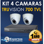 Cctv Kit Dvr 4 Camaras De Seguridad Truvision Full Hd !