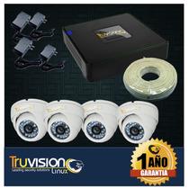 Cctv Kit Dvr 8 Canales + 4 Camaras De Seguridad Truvision