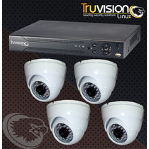 Cctv Kit Dvr 4 Canales Truvision + 4 Camaras De Seguridad