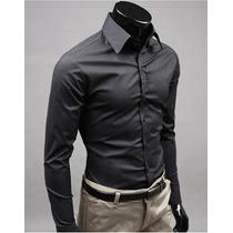 Camisa Estilo Casual Negra Talla Xl