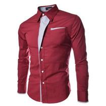 Camisa Slim Fit Hombre Lines Envio Gratis-promoción!