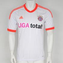 Camiseta Bayern Munich 2012-13 Adidas 100% Orig Alt.blanca