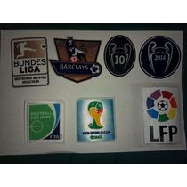 Parches Oficiales Mundial Brasil14,temporada 14-15 $15000c/u