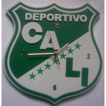 Reloj Pared Deportivo Cali En Madera