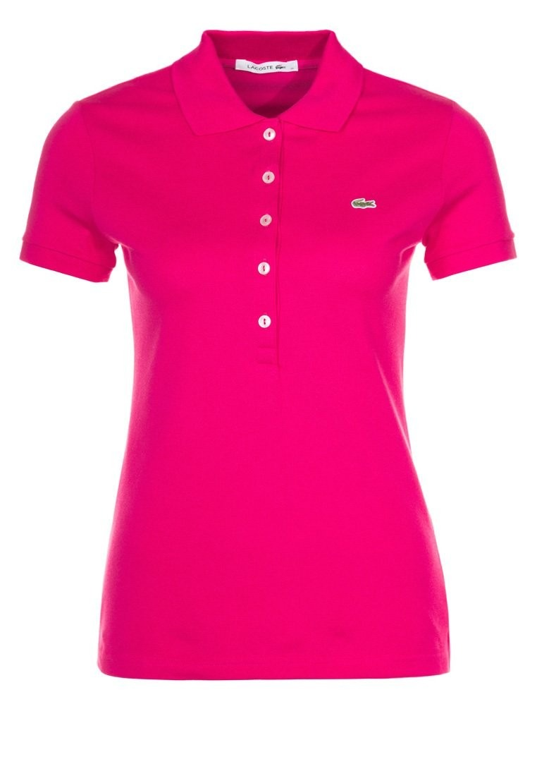 Polo Lacoste Blanco Mujer