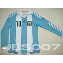 Camiseta Selección Argentina 2011/13 Manga Larga - Adidas