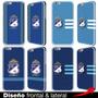 Estuches Carcasas Iphone 6 Plus 5 5s 4 4s Millonarios Azul