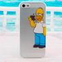 Carcasa Estuche Homero Simpson Manzana Iphone 4 4s 5 5s