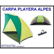 Carpa Playera Para 2 Personas Media Luna Alpes 240x120x120cm
