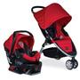 Coche Bebé Britax B-agile Travel System, Rojo