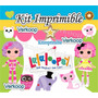Kit Imprimible Lalaloopsy Lala Loopsy + Candy Bar Fiesta Co