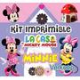 Kit Imprimible Minnie Mouse De La Casa De Mickey Exclusivo