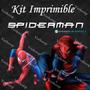 Kit Imprimible Spiderman El Hombre Araña Invitaciones Cartel