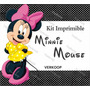 Kit Imprimible Minnie Mouse Invitaciones Tarjetas Frames Co