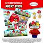 Kit Imprimible Angry Birds Invitación Etiquetas Imprime