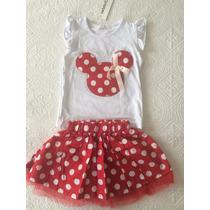 Vestido Niña Minnie Mouse Rojo T2y4 Azul T4