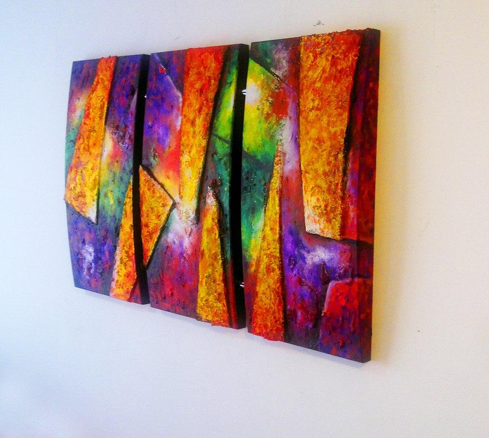 Pintura moderna imagui for Imagenes de cuadros abstractos tripticos