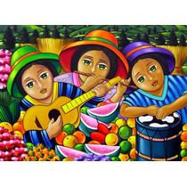 Impresión Lienzo Pintura Negritas Decoración Arte Cuadros