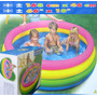 Piscina De Pelotas Intex 168cm , Incluye 200 Pelotas Piscina