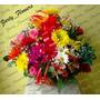 Arreglos Florales Y Tropicales Margaritas Rosas + Obsequio