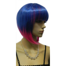 Peluca Azul Rosado Corta Cambio Look,cosplay,disfraz+regalo
